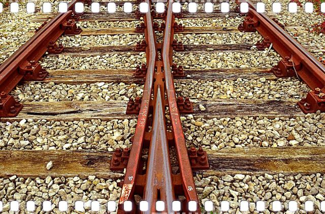 railroad tracks merging